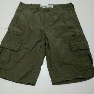 Aeropostale Army Green Cargo Shorts 29